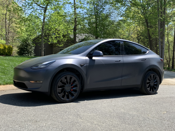 Tesla Model Y with Mountain Pass Performance Lift Kit