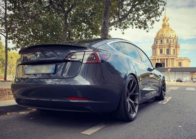 Modified Tesla Model 3 in Paris
