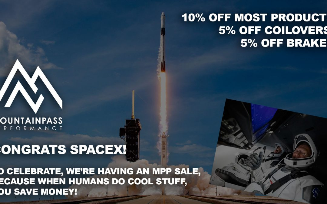 SpaceX Launched Humans, So Let's Have A Sale!
