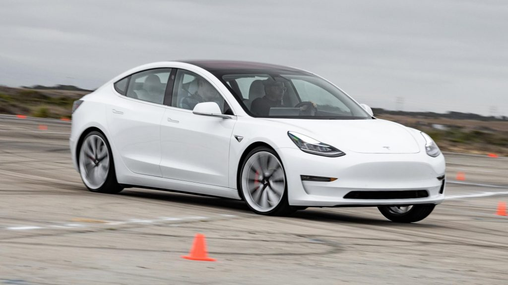 tesla top gear model 3 a lot of body roll