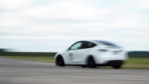 MPP Model Y Entering The Front Straight At Toronto Motorsports Park