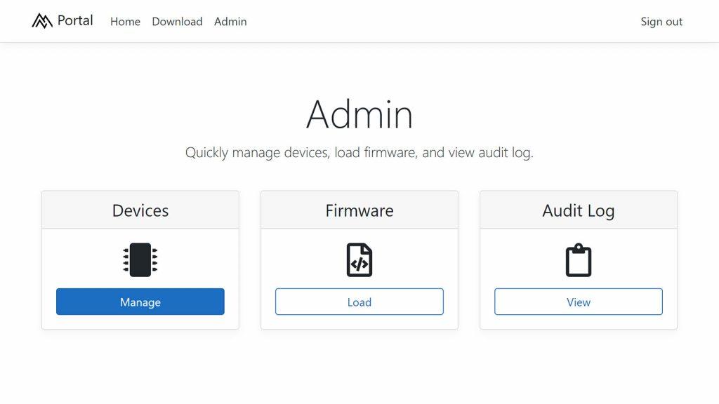 Tesla Model 3 software admin portal for updates