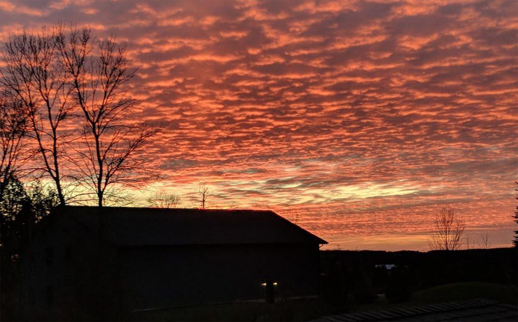 MPP Solar system giveaway under a crimson sky