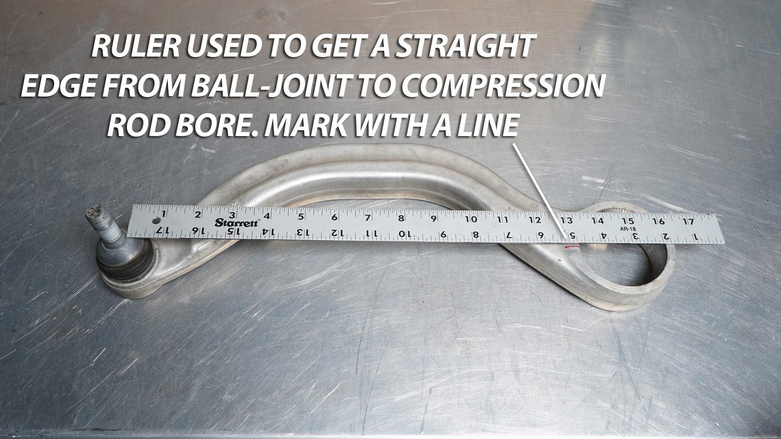 Tesla front compression rod suspension link